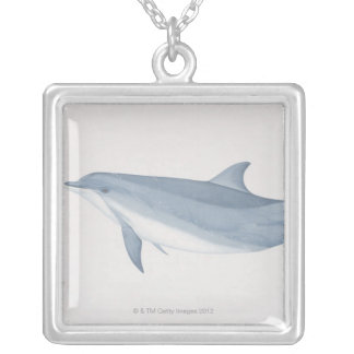 Bottlenose Dolphin Silver Plated Necklace