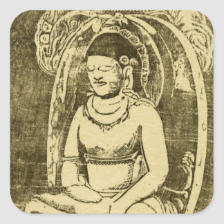 Bouddha (Buddha) by Paul Gauguin Square Sticker