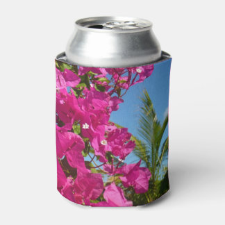 Bougainvillea and Palm Tree Tropical Nature Scene Can Cooler