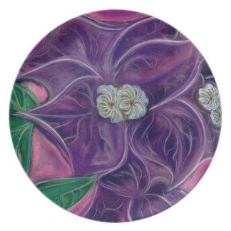 Bougainvillea Melamine Plate