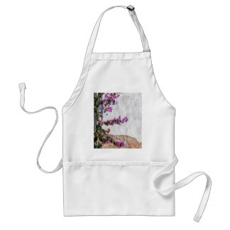 bougainvillea on wall as texture standard apron