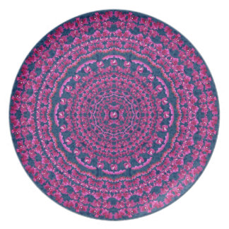 Bouganvillia Mandala Plate