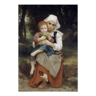 Bouguereau-Breton Brother and Sister Posters