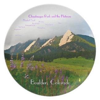 Boulder, Colorado Vintage Style Special Edition Plate