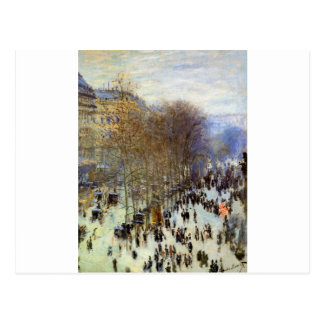 Boulevard of Capucines by Claude Monet Postcard