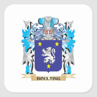 Boulting Coat of Arms Square Stickers