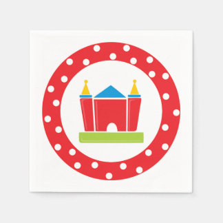 Bounce House Birthday Party Supply Disposable Napkin