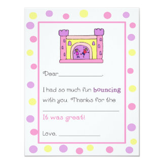 Bounce House Fill-in-the-Blank Thank You Cards Personalized Announcements