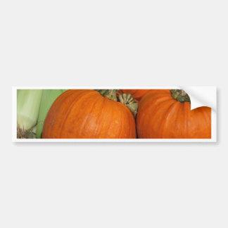 Bountiful Fall Harvest Orange Pumpkins and Corn Bumper Sticker