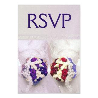 Bouquet Brides RSVP for Lesbian Weddings Card