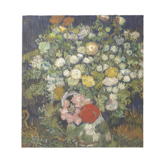 Bouquet of Flowers in a Vase - Van Gogh Notepad