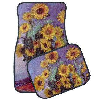 Bouquet of Sunflowers by Claude Monet, Vintage Art Car Mat