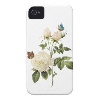 Bouquet of White Roses Butterflies BlackBerry Case