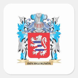 Bourguignon Coat of Arms Square Sticker