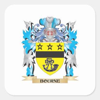Bourne Coat of Arms Square Sticker