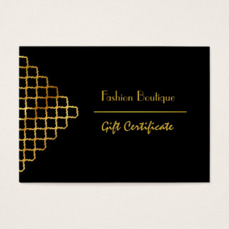 Boutique and Beauty salon gift certificate