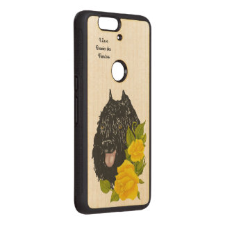 Bouvier des Flandres and Yellow Roses Wood Nexus 6P Case