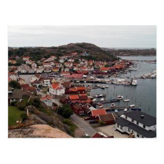 Bovallstrand village postcard