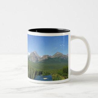 Bow River near Banff National Park in Alberta Two-Tone Coffee Mug