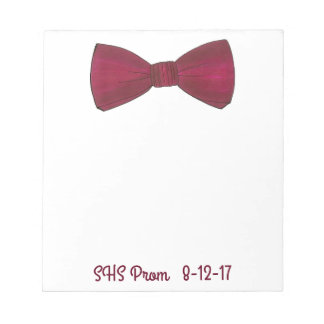 Bow Tie Bowtie Prom Wedding Favor Custom Notepad