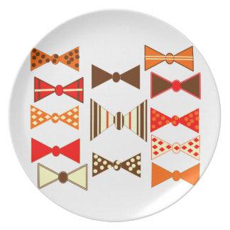 Bow Ties Retro Plate