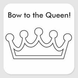 Bow to the Queen Sticker