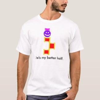 Bowey - She's my better half Men's t-shirt. T-Shirt