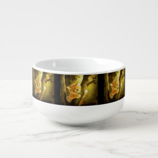 Bowl Kitten Soup Bowl With Handle