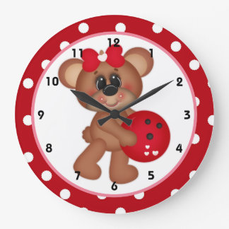 Bowl Me Over Valentine's Day Wall Clock d4