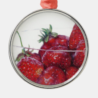 Bowl of Strawberries Christmas Ornament