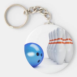 Bowling Ball and Pins Key Ring