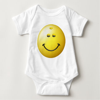 Bowling Ball Smiley Face Baby Bodysuit
