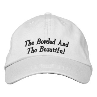 Bowling,_Bowled,_Beautiful,_Embroidered_Cap. Embroidered Hat