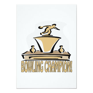Bowling Champion Card
