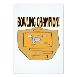 Bowling Champion 5x7 Paper Invitation Card