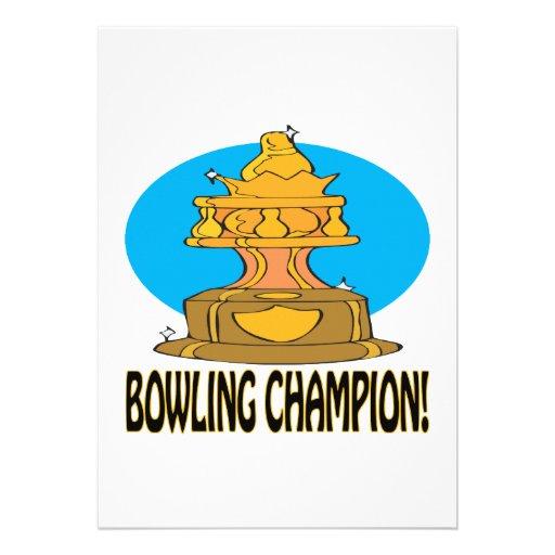 Bowling Champion Custom Announcement