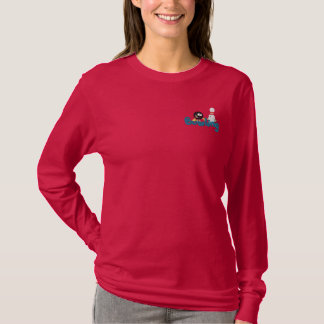 Bowling Fun Embroidered Long Sleeve T-Shirt