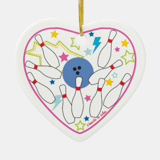 Bowling Heart Ornament