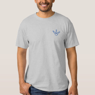 Bowling Outline Embroidered T-Shirt