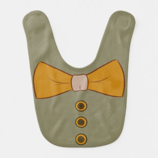 Bowtie and Buttons Baby Bib