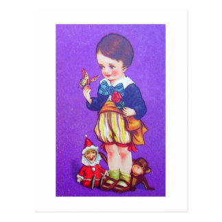 bowtie boy postcard