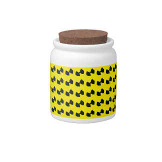 BowTie Candy Jar in Yellow and Black