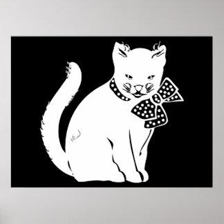 Bowtie Cat Poster