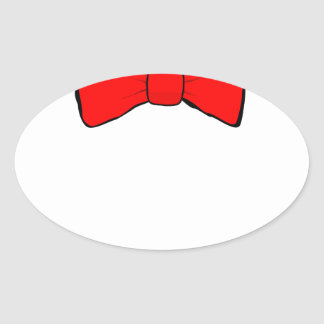 bowtie oval sticker