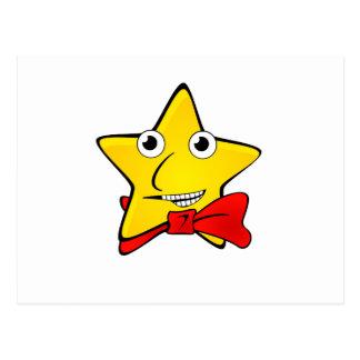 Bowtie Star Cartoon Postcards