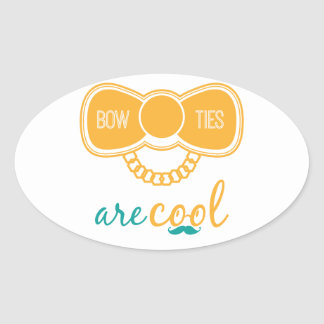 Bowties Are Cool Oval Sticker