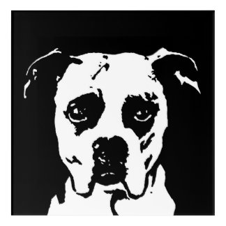 Boxer Black & White Acrylic Wall Art