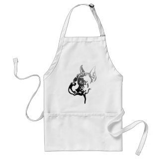 Boxer croped Head Adult Apron
