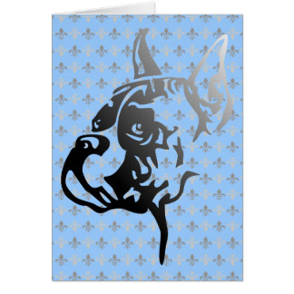 Boxer croped Head Greeting Card