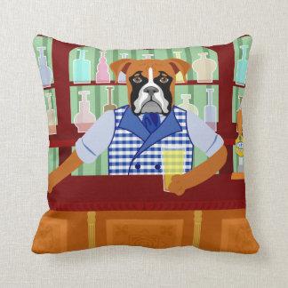 Boxer Dog Beer Pub Throw Cushions
